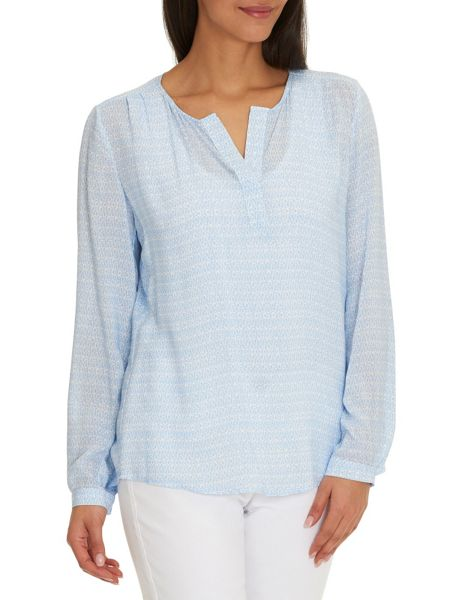 Betty Barclay Long sleeved printed blouse