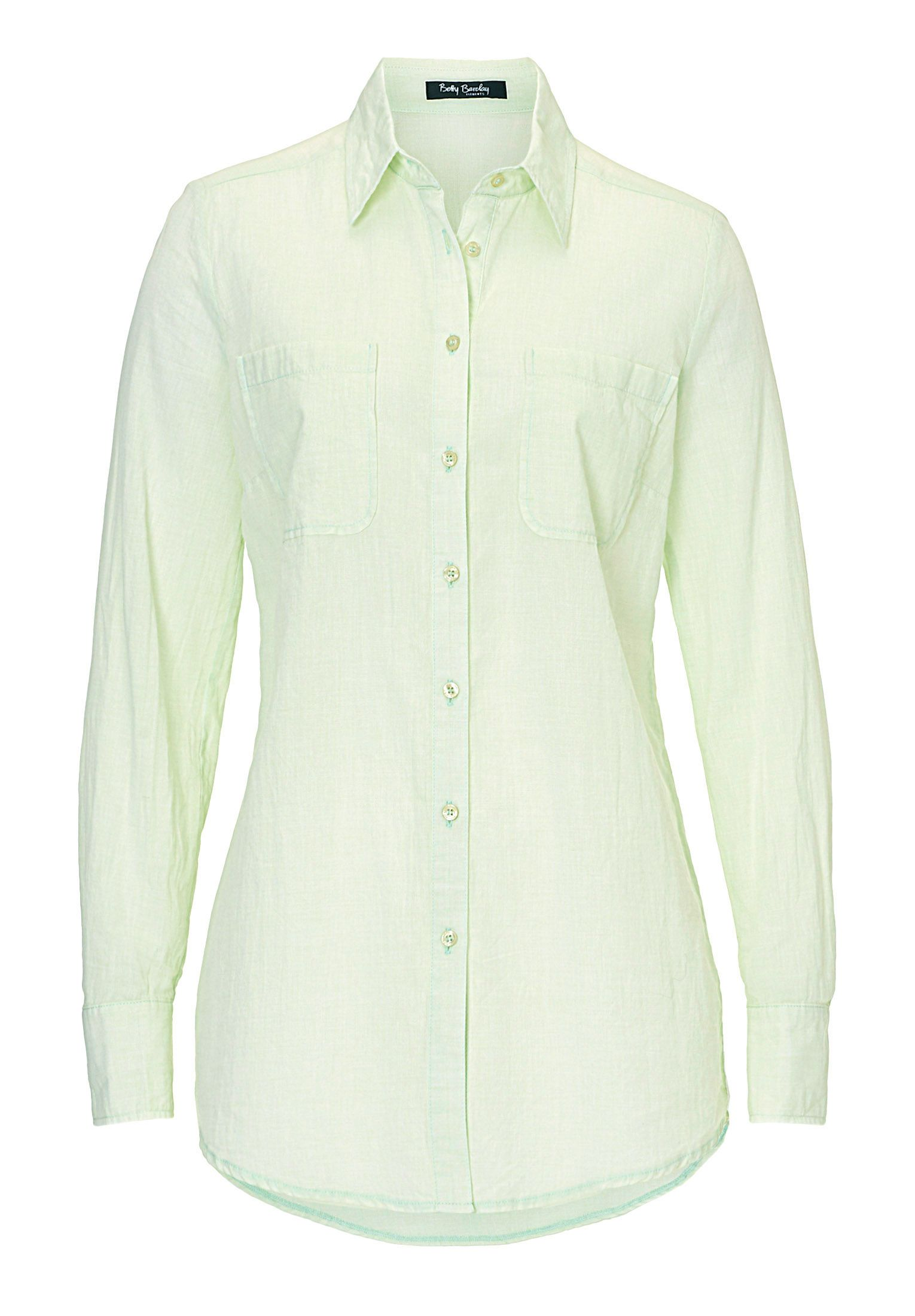 Betty Barclay Long cotton blouse, Pastel Green
