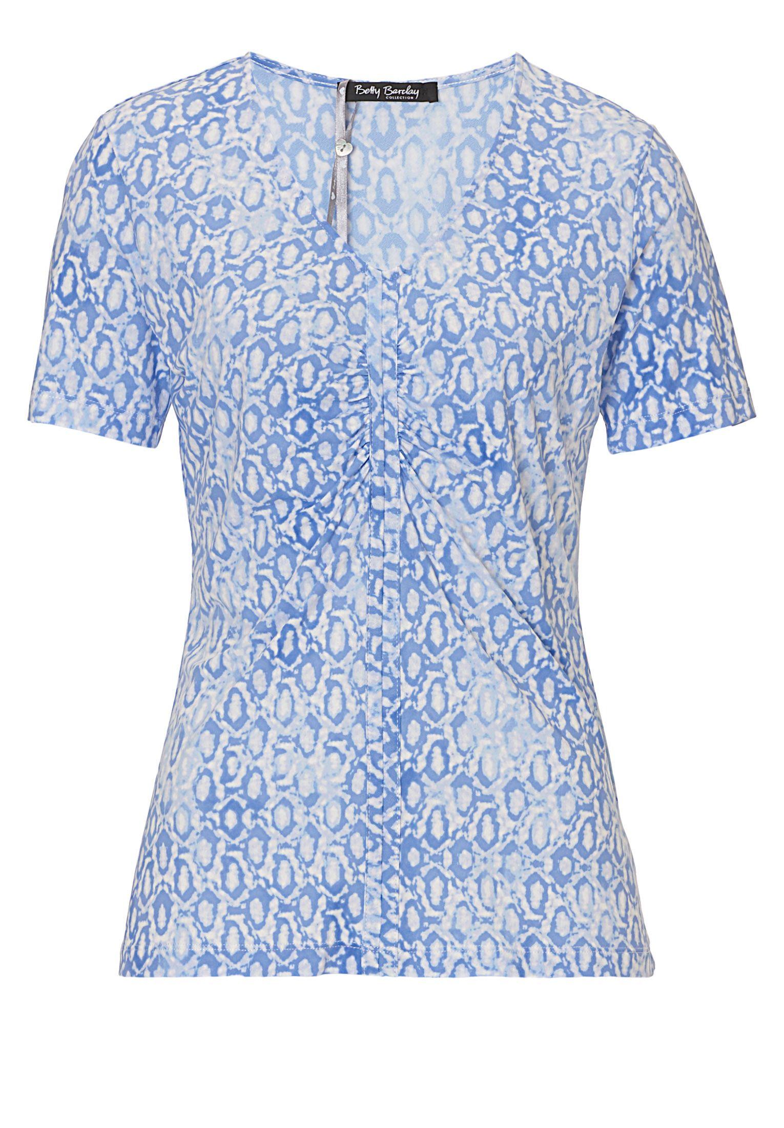 Betty Barclay Short sleeved printed top, Blue Multi