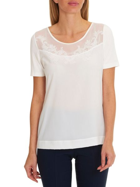 Betty Barclay Short sleeved embellished top
