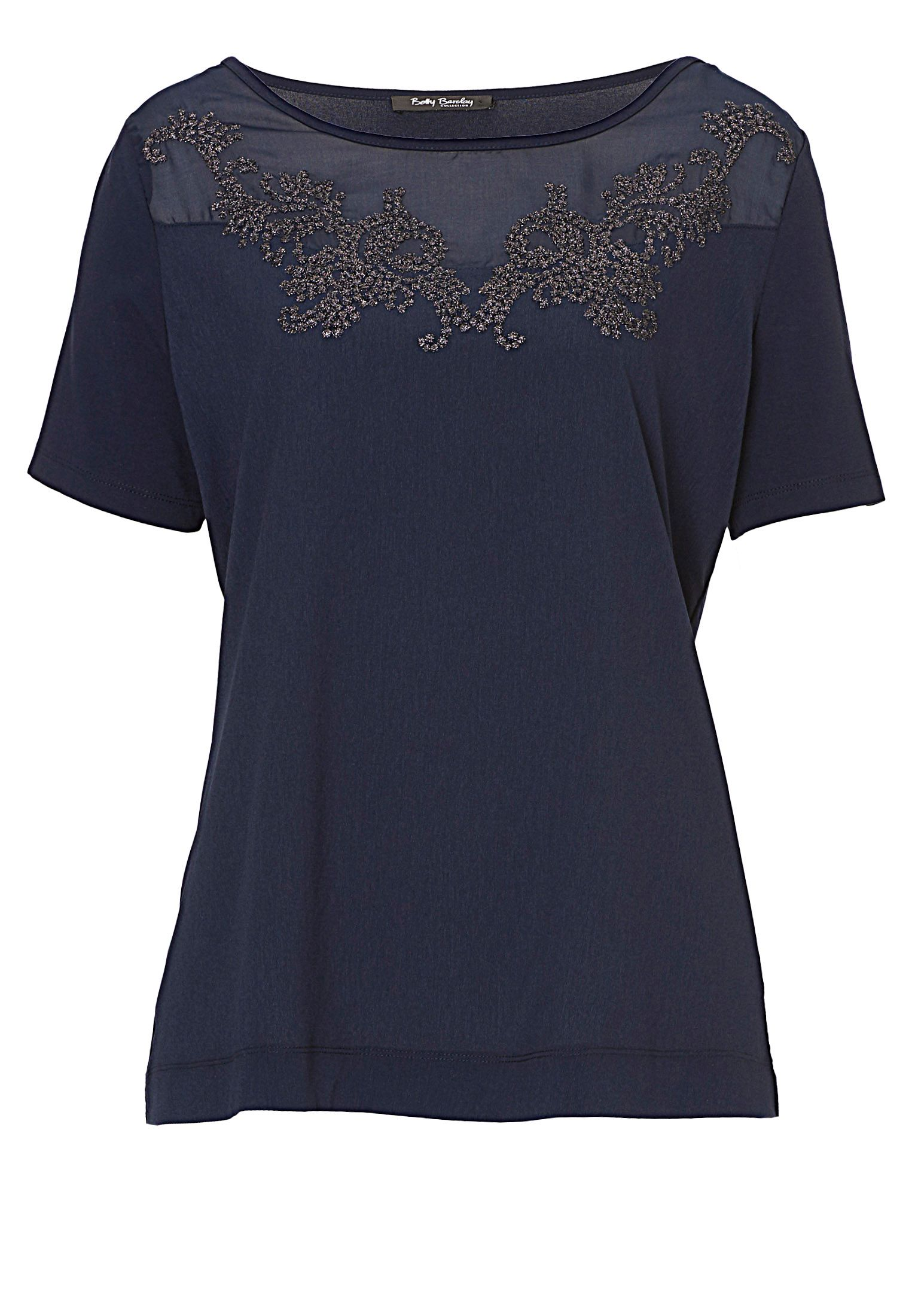 Betty Barclay Short sleeved embellished top, Blue