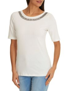 Betty Barclay T-shirt with beaded neckline