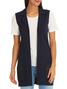 Betty Barclay Long gilet with cut-out panel