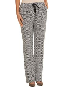 Betty Barclay Drawstring printed trousers