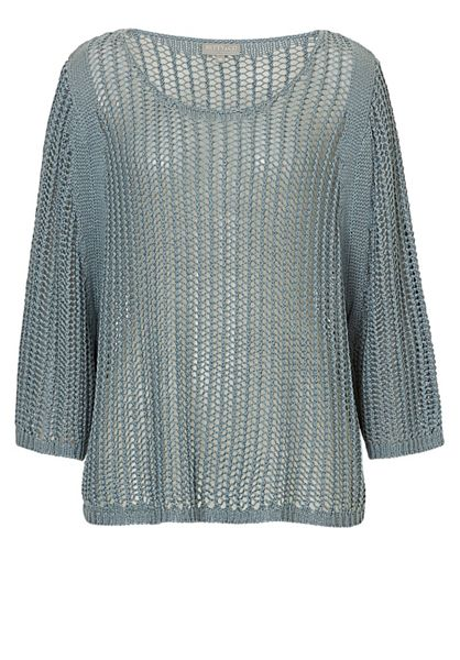 Betty & Co. Open Knit Poncho Top