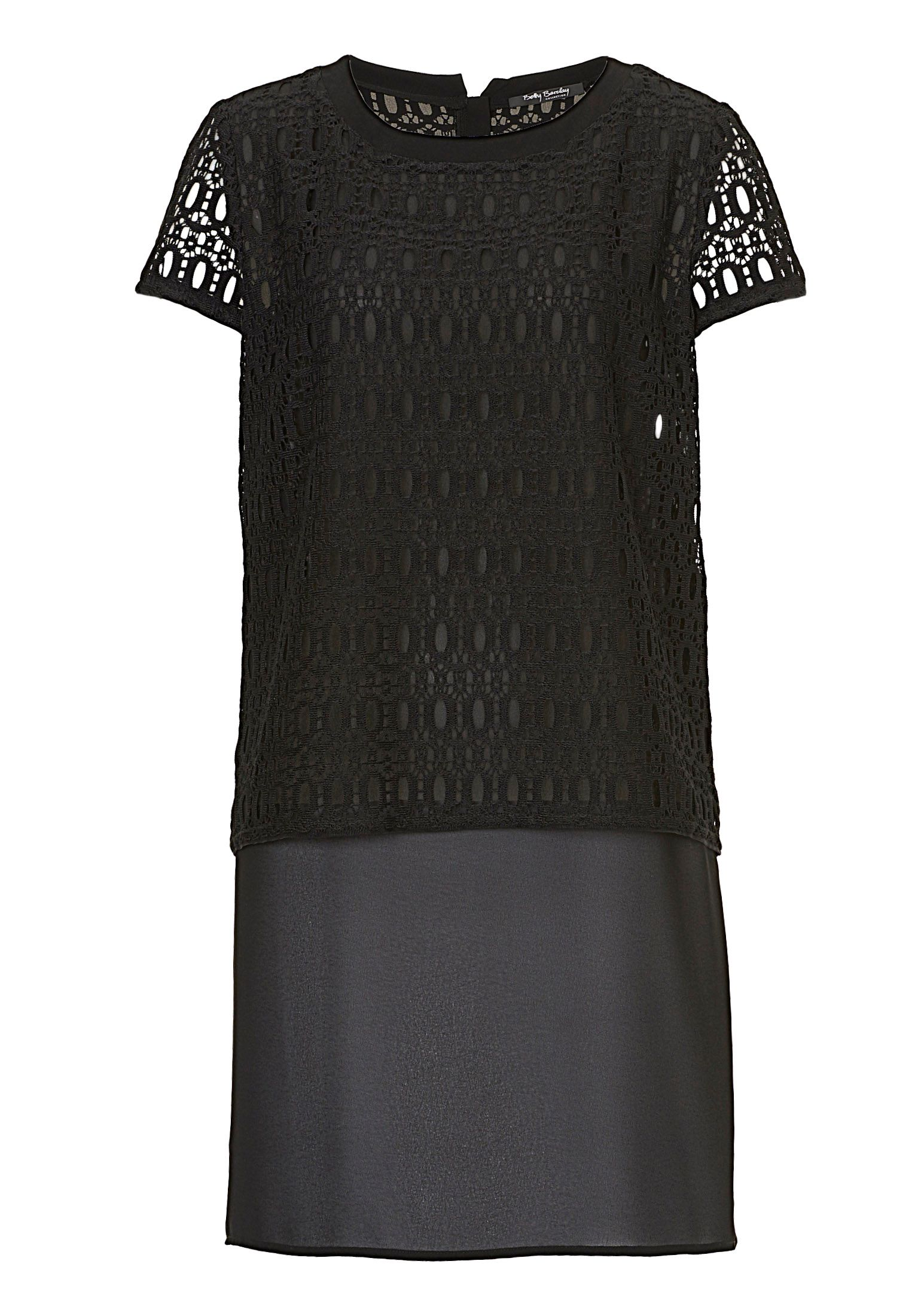 Betty Barclay Lace And Chiffon Layered Tunic, Black