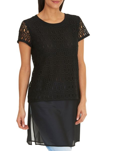 Betty Barclay Lace and chiffon layered tunic