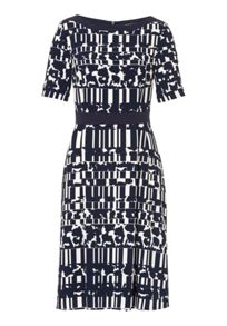 Betty Barclay Short sleeve graphic print dress