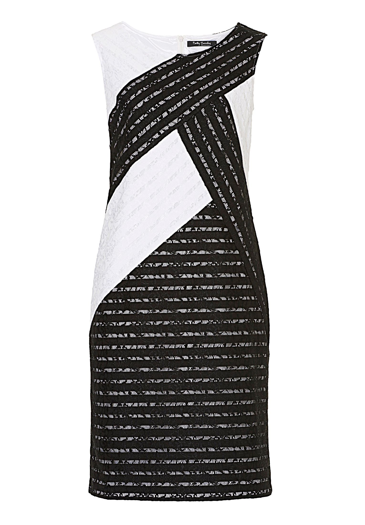 Betty Barclay Monochrome lace shift dress, Black/White