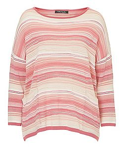 Candy stripe oversized jumper