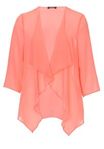 Vera Mont Chiffon jacket with waterfall front