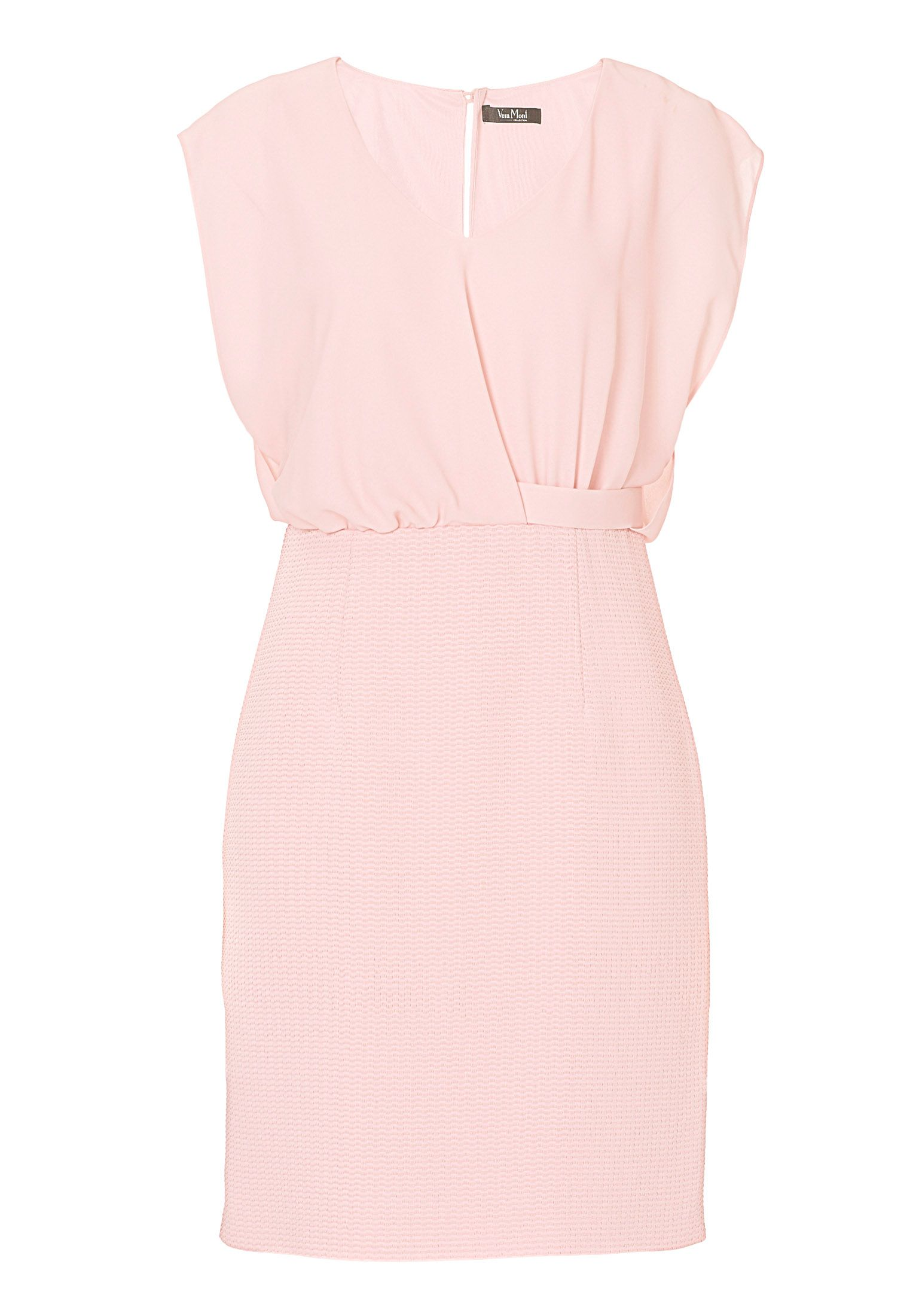 Vera Mont Chiffon and textured dress, Pink