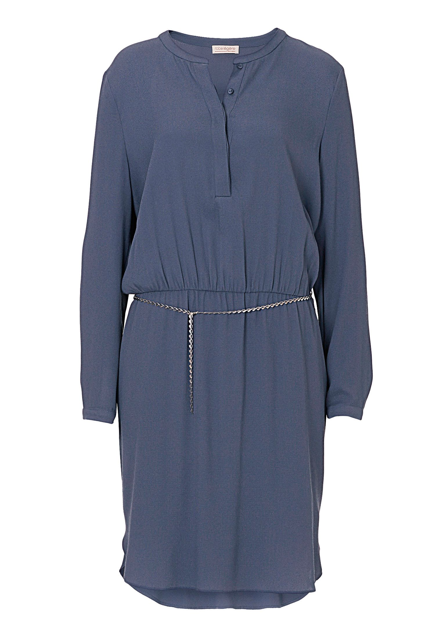 Vera Mont Crêpe dress with chain belt, Blue
