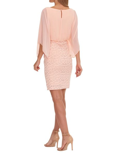 Vera Mont Chiffon and stretch lace dress