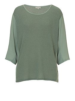Three-Quarter Sleeve Knit Top