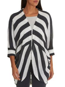 Betty & Co. Striped batwing cardigan