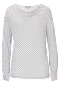 Betty & Co. Striped cowl neck top