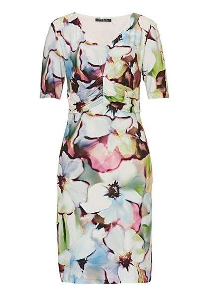 Betty Barclay Ruched floral print dress