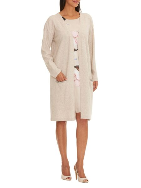 Vera Mont Wool and cashmere cardigan coat