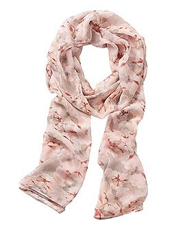 Long floral prnt scarf