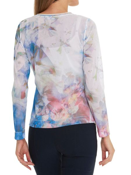 Betty Barclay Sheer printed blouse