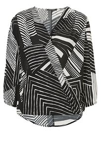 Betty Barclay Graphic print wrapped blouse