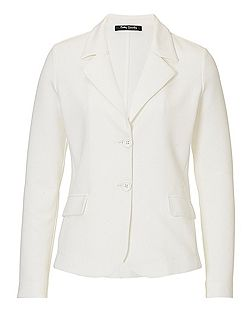 Plain two-button blazer