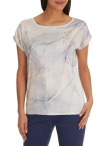 Betty & Co. Marble print cotton top