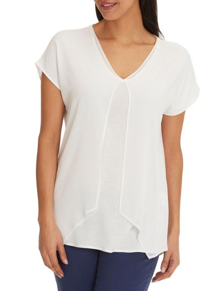 Betty & Co. Chiffon layered top