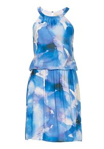 Vera Mont Dropped waisted print dress