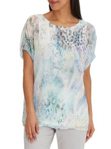 Betty Barclay Printed chiffon top
