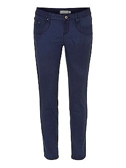 Five-pocket mid-rise jeans