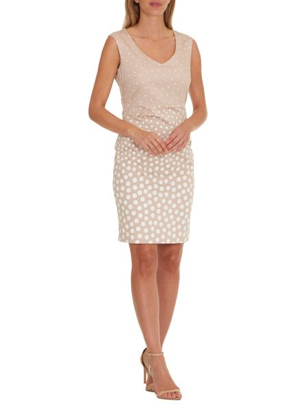 Vera Mont Polka dot dress with ruching