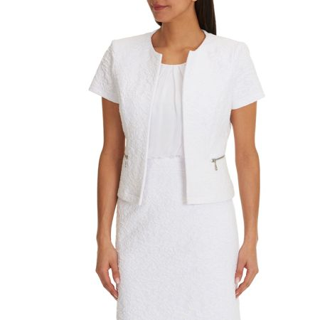 Betty Barclay Textured short sleeve jacket