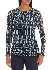 Betty Barclay Graphic print mesh top