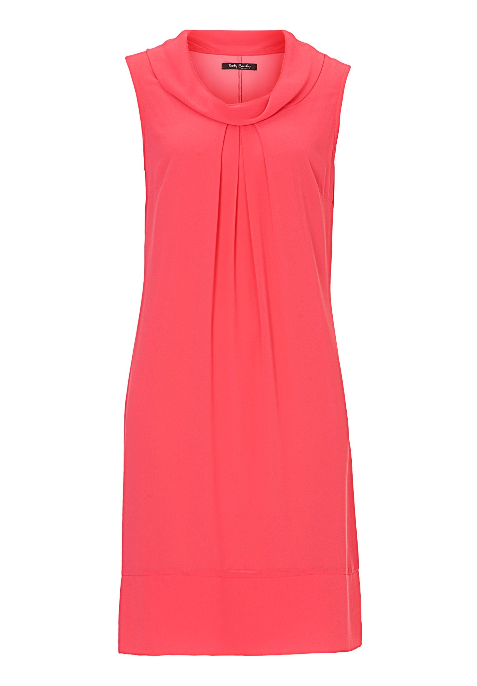 Betty Barclay Cowl neck chiffon dress, Pink