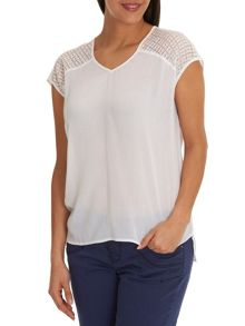 Betty & Co. V-neck cap sleeved top