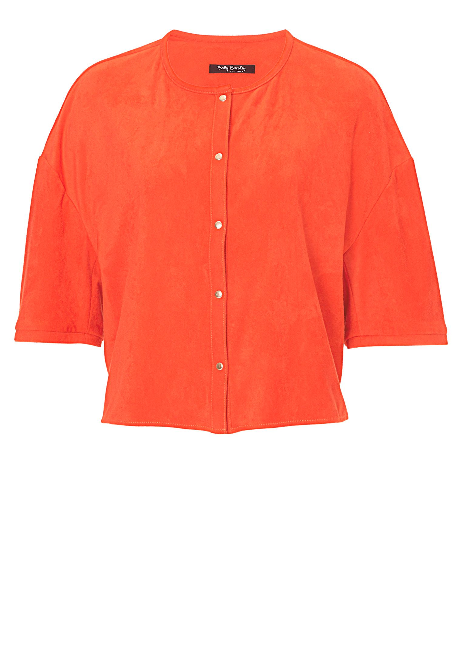 Betty Barclay Faux suede short sleeved jacket, Orange