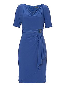 Jersey dress with buckle