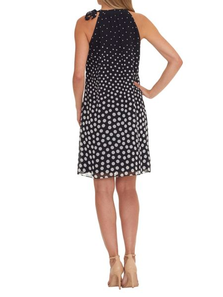 Vera Mont Polka dot dress with neck tie