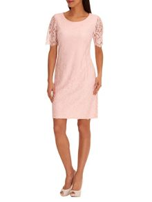 Vera Mont Lace sleeveless shift dress