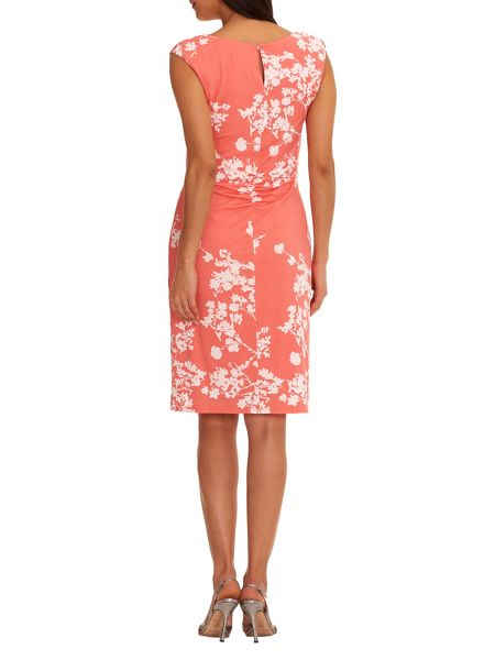 Vera Mont Cowl neck floral print dress