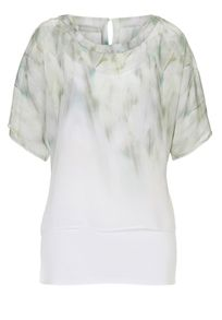 Betty & Co. Chiffon print layered top