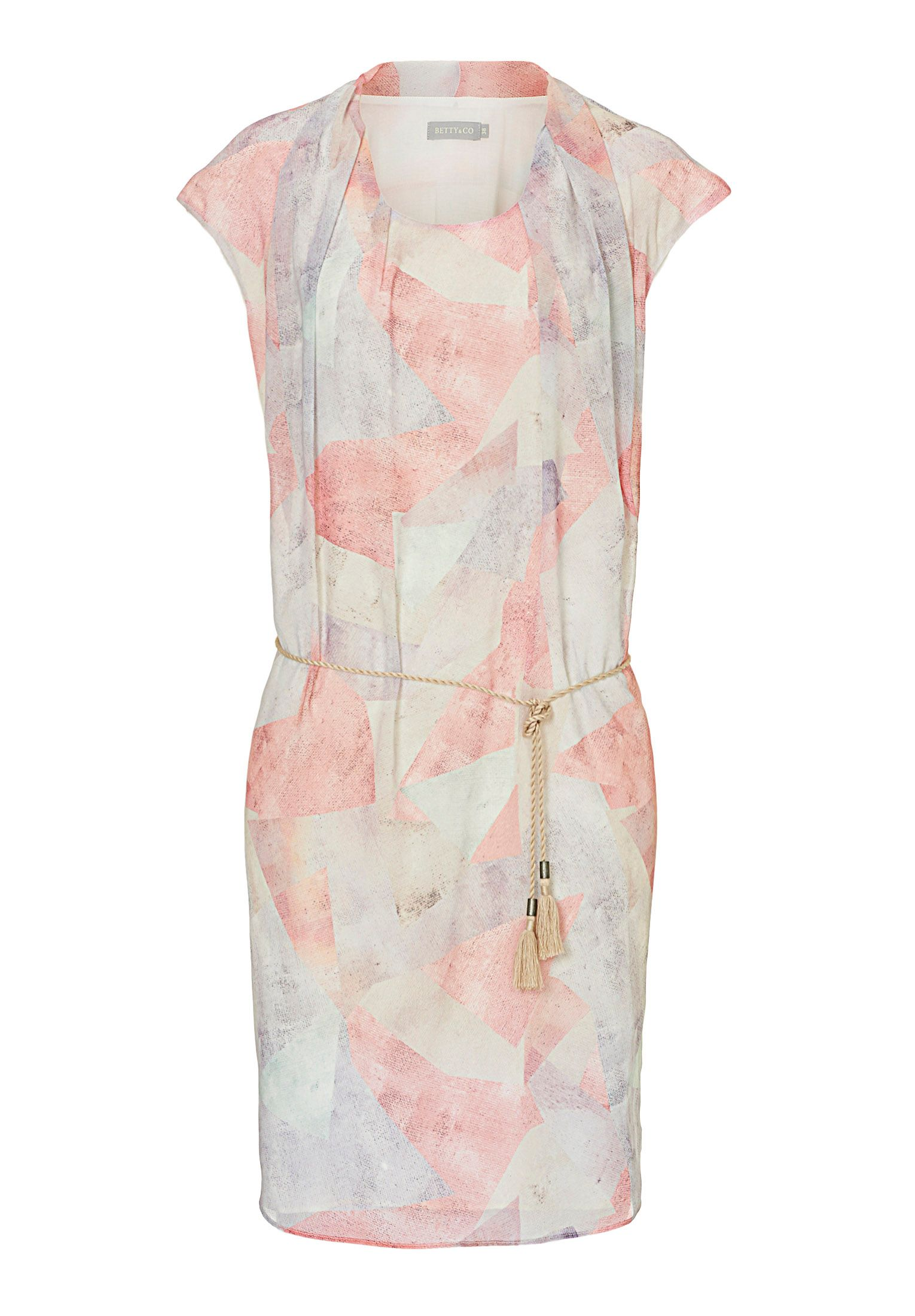 Betty & Co. Printed drop-waisted dress, Multi-Coloured