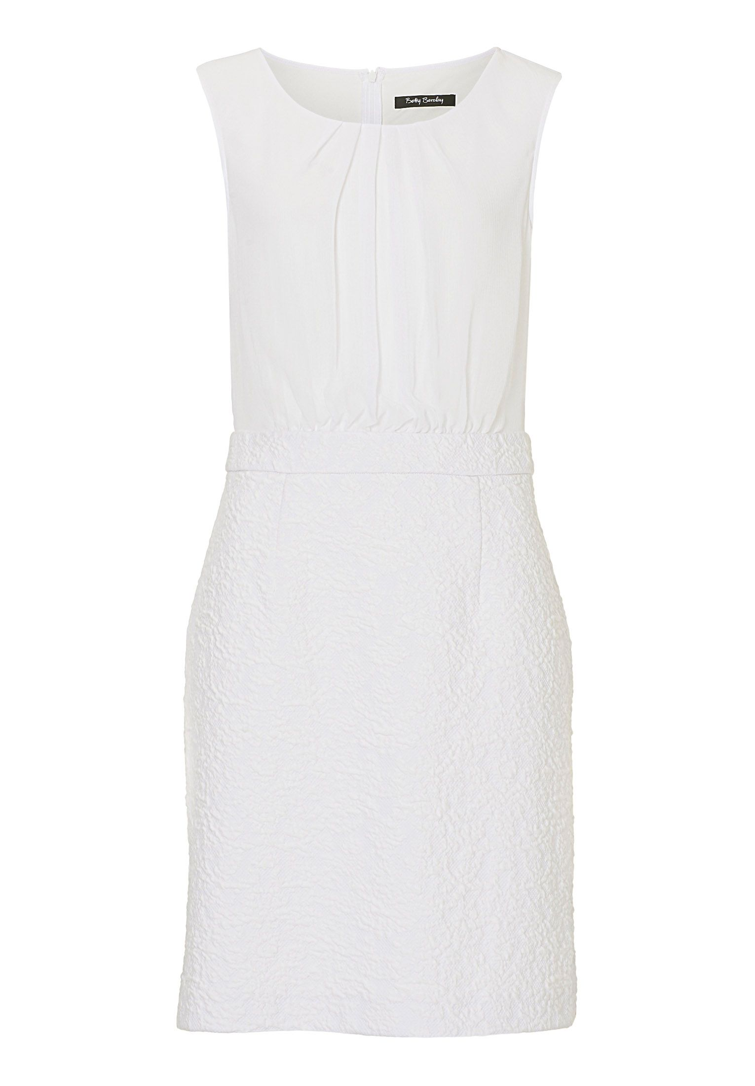 Betty Barclay Sleeveless dress with textured skirt, Multi-Bright