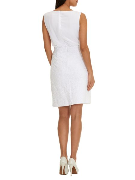Betty Barclay Sleeveless dress with textured skirt
