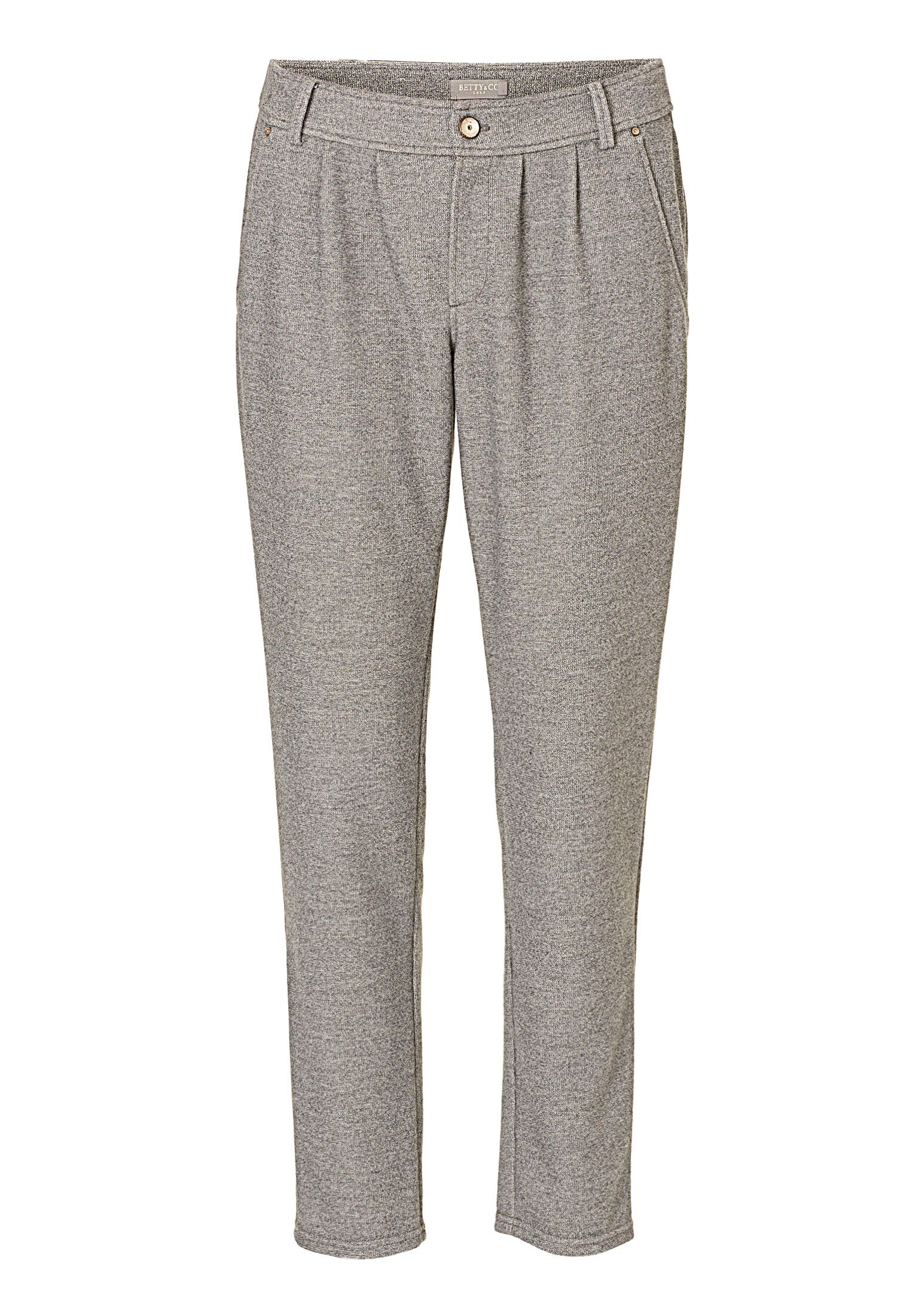 Betty & Co. Loose fit textured trousers, Grey