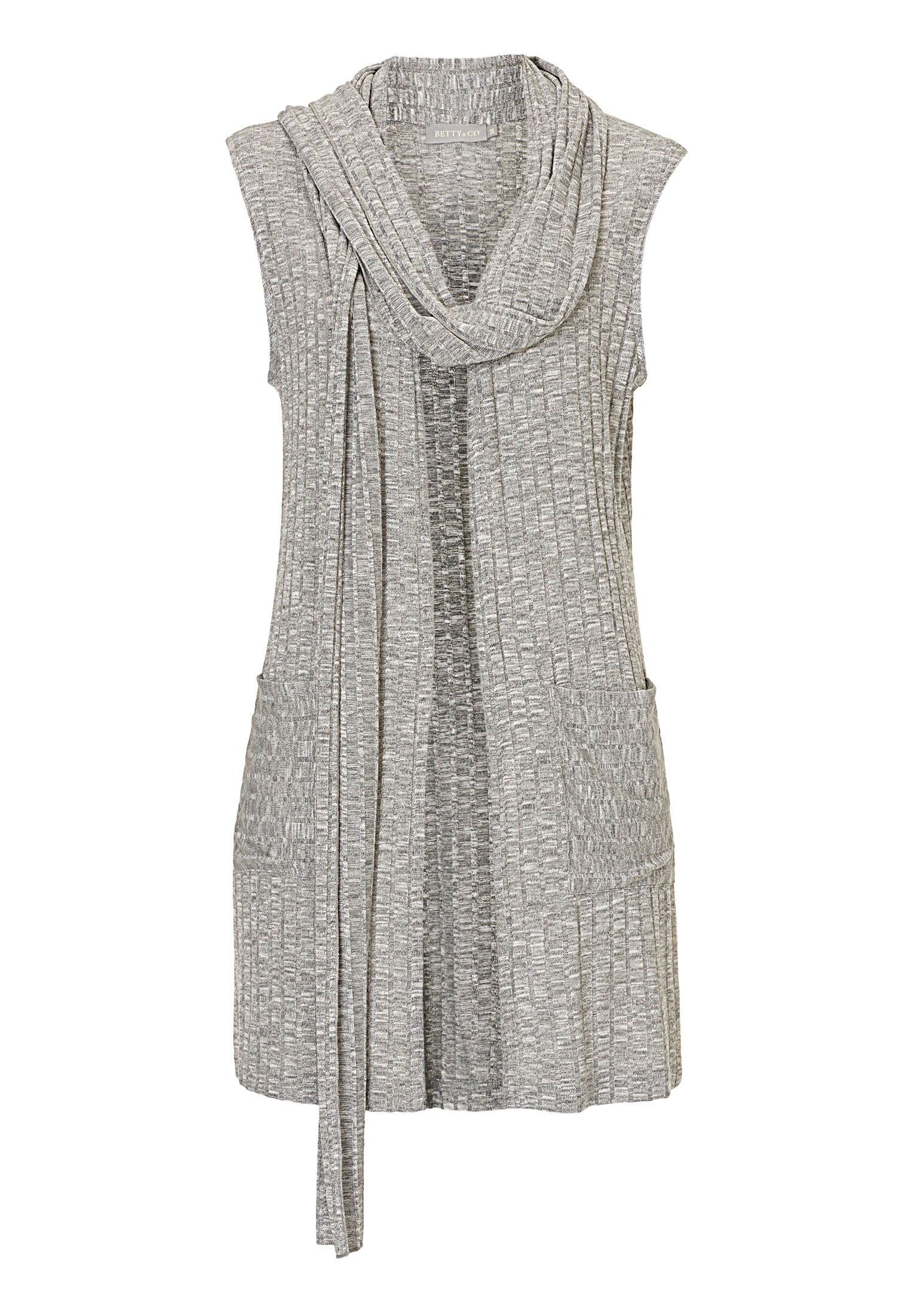 Betty & Co. Textured fine knit cardigan Grey