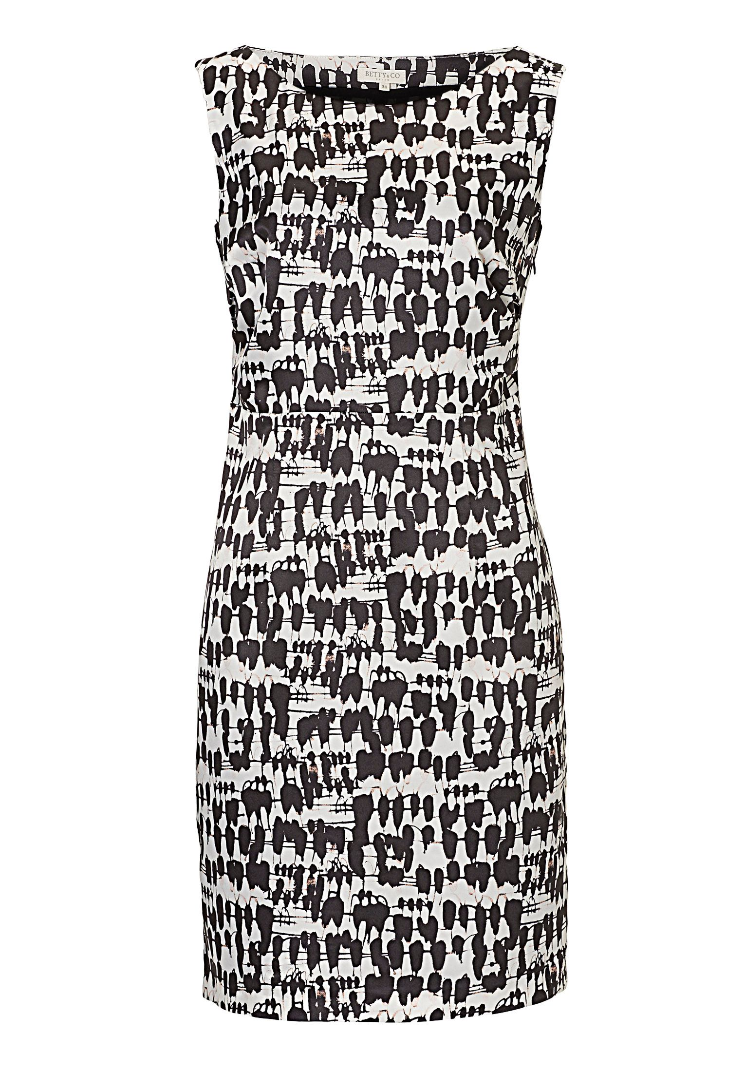 Betty & Co. Printed shift dress, Cream