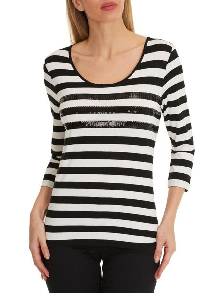 Betty Barclay Striped top with sequins